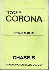 Toyota Corona Repair Manual Chassis Group 1970 Car Mechanics PB Japan