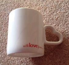Clover With Love Rare Heart Handle Mug