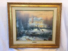 Thomas Kinkade Victorian Christmas II Painting Publisher Proof Signed Numbered