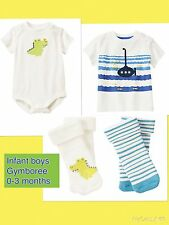 NWT Infant Boys Gymboree 4pc Outfit SET 0-3m Gator Submarine Ocean NEW $40
