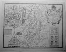 SPEED The Countie County of Nottingham  MAP 1676