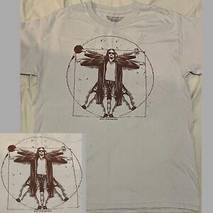 The Big Lebowski Mens T-Shirt 'The Dude Vitruvian Da Vinci' - LICENSED - MEDIUM