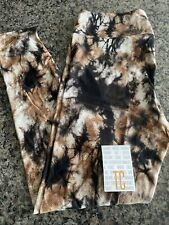 Lularoe TC black brown tie-dye NWT leggings