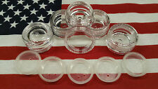 LOT OF 10 ~ 3 GRAM CLEAR CAP SIFTER JARS