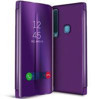 Handy Klapp Tasche fŸr Samsung Galaxy A9 2018 HŸlle View Flip Case Schutz Cover
