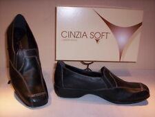 Scarpe classiche mocassini Cinzia Soft donna shoes women casual pelle neri 35 38