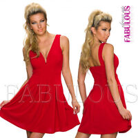 New European Pleated Padded Low Cut Mini Dress Hot Party Evening Wear Size 8 S