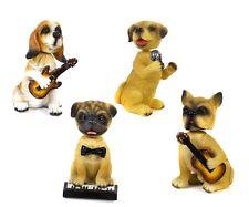 4 simpatici cagnolini musicisti con testa dondolante cm8,5 by Mandorle Bombonier