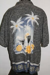 TOMMY BAHAMA Mens XL X-Large 100%Silk Button-up shirt Combined ship Discount