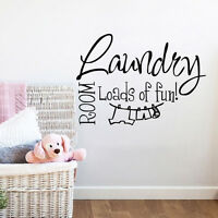 The Laundry Room Loads Of Fun Quote Wall Art Sticker Vinyl Decal Family Decor
