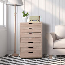 Rolling Filing Cabinet With 7 Drawer Wooden Mobile Storage Organizer Home Office