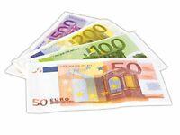Set 40 Servietten Geldschein € Uro
