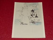 MENU / ILLUSTRATION TOULOUSE LAUTREC Joli Reprint années 60 18x24 (20)