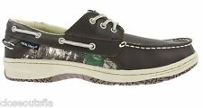 Realtree Camo Size 10 Leather New Mens Boat Shoes