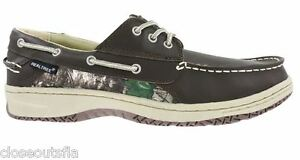 Realtree Camo Size 9.5 Brown Leather Boat Shoe New Mens Shoes