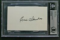 Ernie Stautner (d.2006) Steelers HOF Autographed 3x5 Index Card BAS Certified