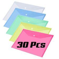 30x Surtidos De Plástico Stud documento Carteras Carpetas Poppers A4 de papel de archivo de almacenamiento