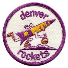 "1971-74 DENVER ROCKETS ABA BASKETBALL VINTAGE 3"" ROUND PURPLE BORDER PATCH RARE"