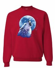 Call of the Wild Sweatshirt Lone Wolf Howling at the Moon Wildlife Sweater