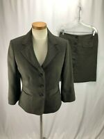 Ann Taylor Women's Brown Skirt Suit 6