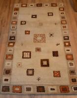 Indischer Gabbeh Teppich von Kibek Artikel 1411 92cm x 161cm 100% Schurwolle
