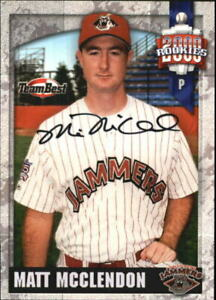 2000 Team Best Autograph #NNO Matt McClendon Jamestown Jammers  C17485