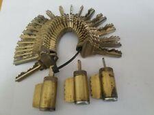 Three Schlage Cylinders 6 Pin Keyed Alike 25 Keys