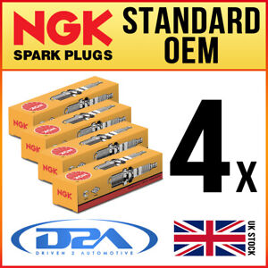 4x NGK LZKAR7B (5942) Standard Spark Plugs For RENAULT CLIO 3 1.2 01/07-->