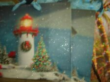 "HOLIDAY MINI GIFT BAGS  LOT OF 9 APPROX. SIZE 4 1/2"" X 5 1/2"" LIGHTHOUSE/CHAIR"