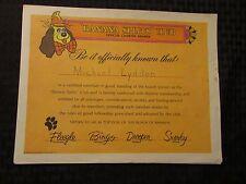1968 BANANNA SPLITS CLUB Membership Kit w/ Folder & 7 Items