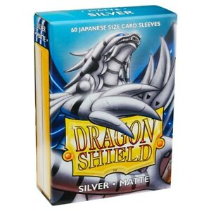 Dragon Shields Matte Silver Japanese/Small Standard Deck Protector Card Sleeves