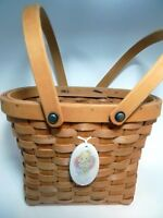 Precious Moments Time To Bless Your Own Day Basket Double Handle Tie On