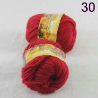 Sale Lot of 2 Skeins New Knitting Yarn Chunky Colorful Hand Wool Wrap Scarves 30