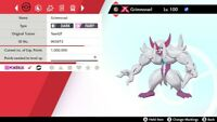 Shiny - 6IV - Gigantamax Grimmsnarl Pokemon Sword And Shield{INSTANT TRADE NOW}