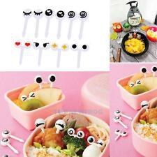 10x Cute Eye Fork Cupcake Food Fruit Picks Stick Bento Birthday Party Decor Box