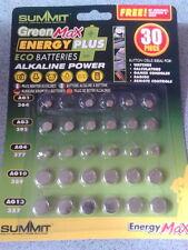pack of 30 button cell batteries AG13, AG10, AG4, AG3, AG1. Multipack.
