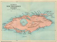 NEW PROVIDENCE. Vintage map. Bahamas. Caribbean 1931 old vintage chart