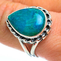 Chrysocolla 925 Sterling Silver Ring Size 9.25 Ana Co Jewelry R45704F