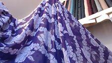 Last piece 7m50 High quality purple/ lilac Rose Chiffon Fabric 1m50 W