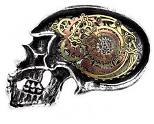 Anima Machinato Futurus Gears Steampunk Skull Pewter Belt Buckle B85 Alchemy