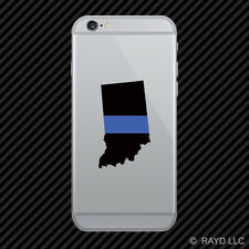 Indiana State Shaped The Thin Blue Line Cell Phone Sticker Mobile police IN