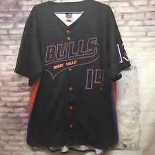Alleson Athletic Baseball Jersey Knoxville Bulls #14 Black Size L