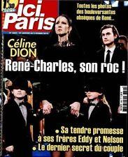 ICI PARIS N° 3682 - CELINE DION RENE-CHARLES .MAG REVUE 2016