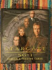 More details for stargate sg1 season 4 trading card collectors binder, sell sheet and basic set