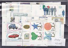 ITALIA REPUBBLICA 1986 ANNATA COMPLETA 42 VALORI NUOVI