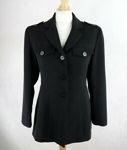 Womens MORGAN Military style Longline Jacket Size UK 10 Fitted Blazer Button up