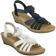 Leather Wedge Floral Sandals & Flip Flops for Women
