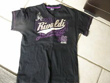 "TEE SHIRT A COL V NOIR "" RIVALDI "" TAILLE 13 / 14 ANS  / INDISPENSABLE !!!"