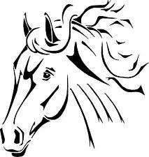 Autoaufkleber- Pferdekopf Zeichnung, Größe  20x19cm div. Farben zur Wahl Art 664
