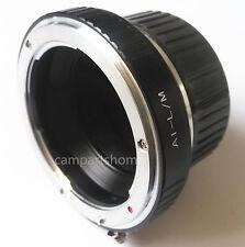 Nikon AI F Lens To Leica M LM Adapter M5 M6 M7 M8 M9 MP M9-P Ricoh GXR-M + Cap
